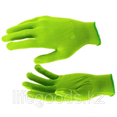 Перчатки Нейлон, 13 класс, цвет изумрудный, L Россия 67823, фото 2