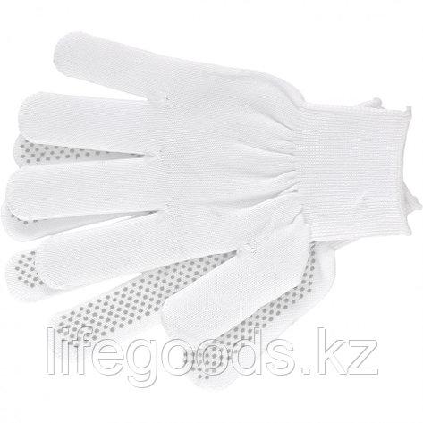 Перчатки Нейлон, ПВХ точка, 13 класс, белые, XL Россия 67847, фото 2