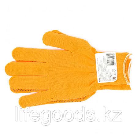 Перчатки Нейлон, ПВХ точка, 13 класс, оранжевые, XL Россия 67845, фото 2
