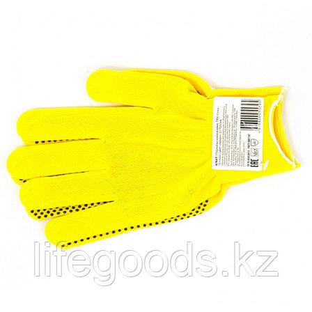 Перчатки Нейлон, ПВХ точка, 13 класс, цвет лимон, L Россия 67827, фото 2