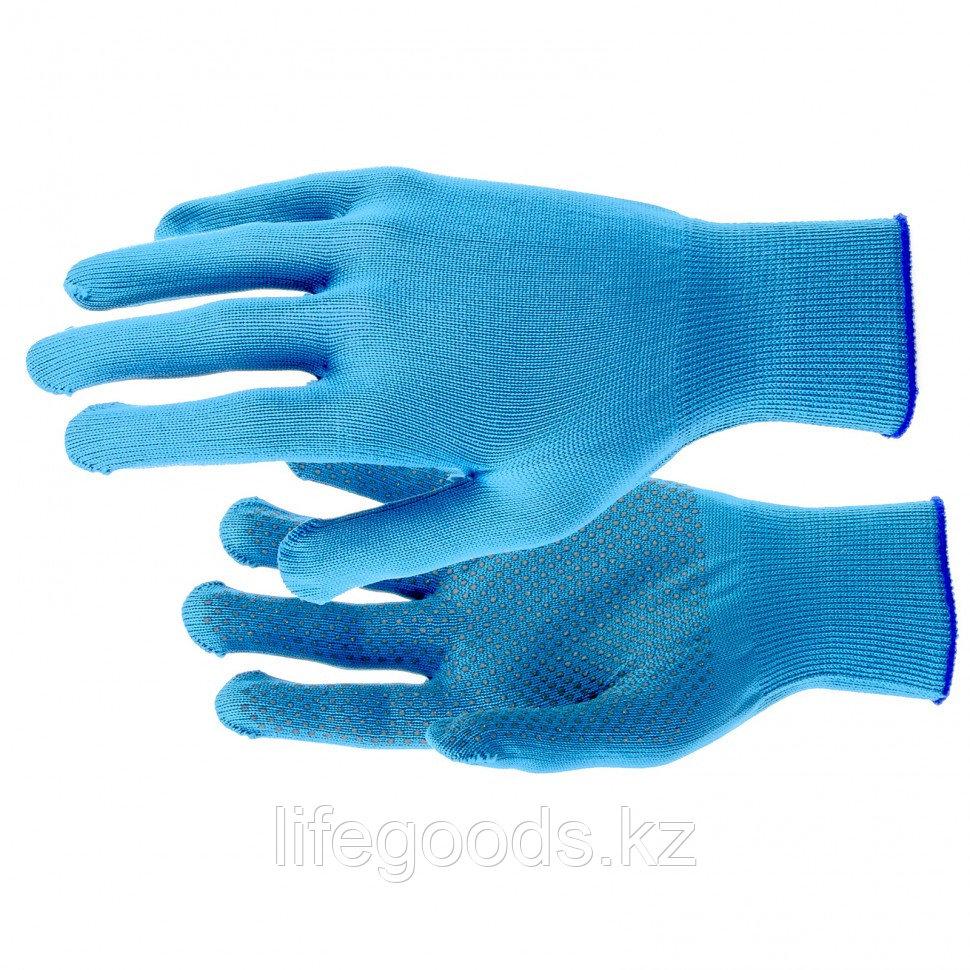 Перчатки Нейлон, ПВХ точка, 13 класс, цвет ультрамарин, XL Россия 67846