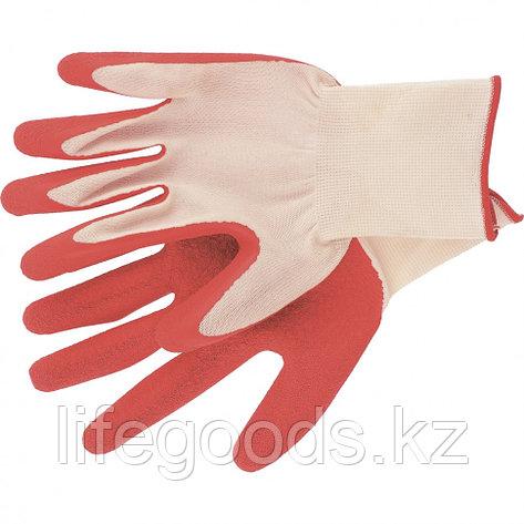 Перчатки полиэфирные с рельефным покрытием из нат латекса, 15 класс вязки, 57 г Россия Сибртех 67767, фото 2