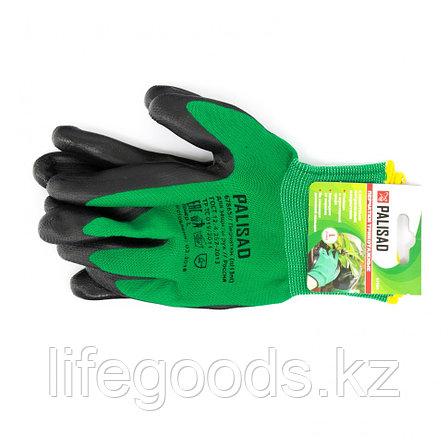 Перчатки полиэфирные с черным нитрильным покрытием маслобензостойкие, L, 15 класс вязки Palisad 67865, фото 2