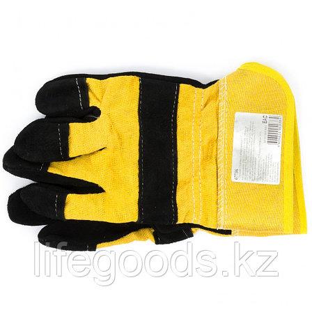 Перчатки спилковые комбинированные Россия 67736, фото 2