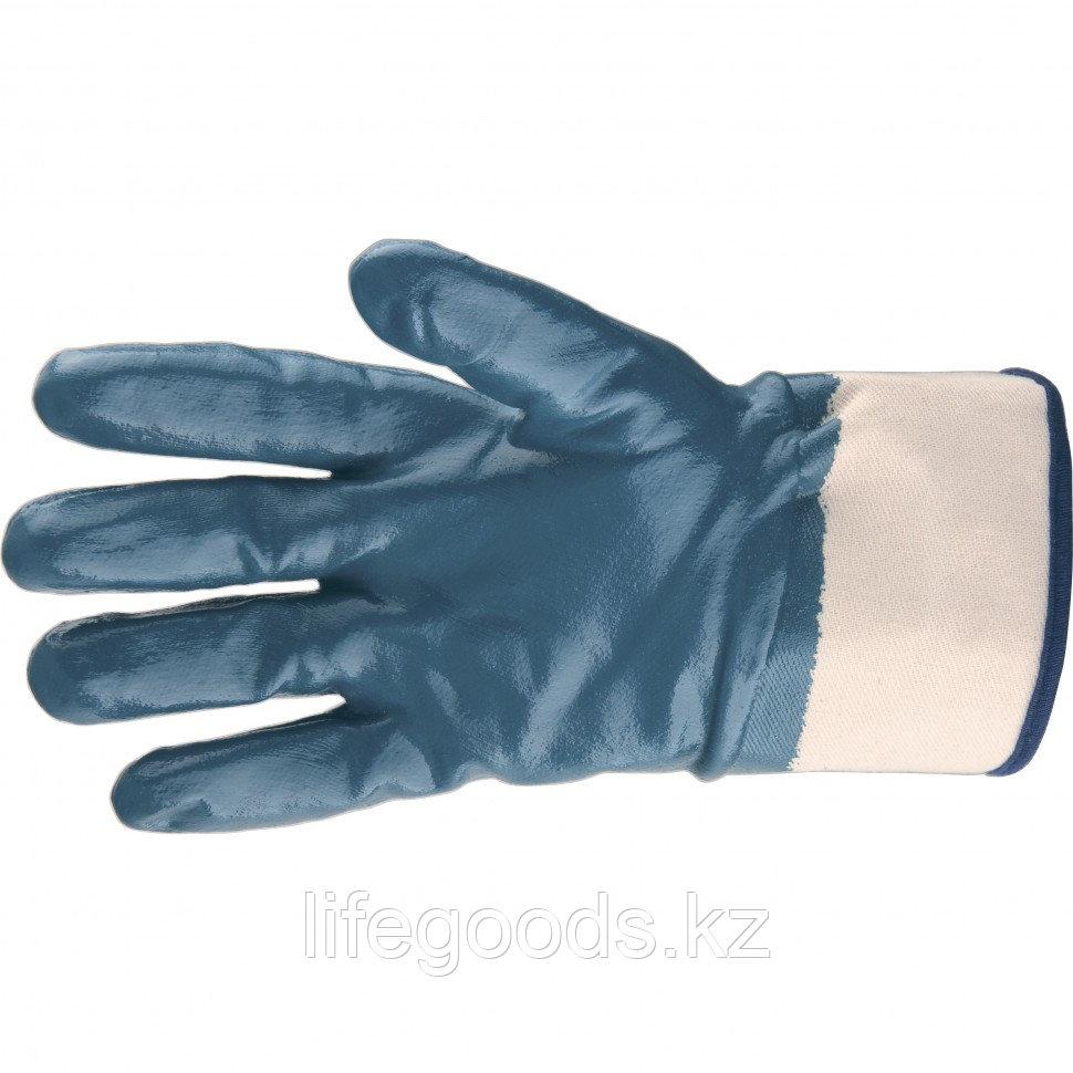 Перчатки трикотажные с обливом из бутадиен-нитрильного каучука, крага, L Сибртех 67833