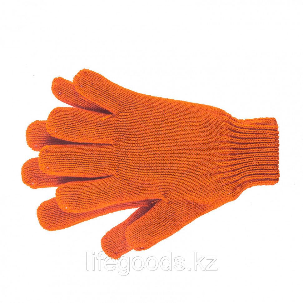 Перчатки трикотажные, акрил, двойные, оранжевый, двойная манжета Россия Сибртех 68689