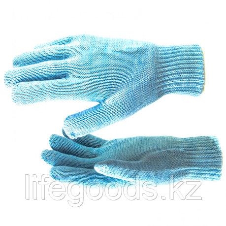 Перчатки трикотажные, акрил, двойные, цвет зенит, двойная манжета Россия Сибртех 68686, фото 2