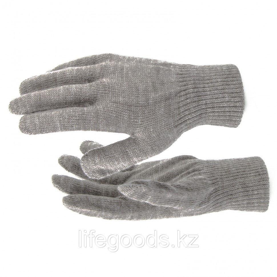 Перчатки трикотажные, акрил, коричневый, двойная манжета Россия Сибртех 68673