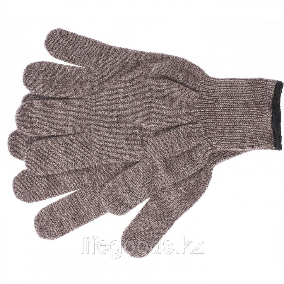 Перчатки трикотажные, акрил, коричневый, оверлок Россия Сибртех 68653