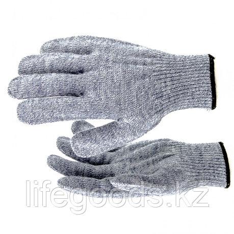 Перчатки трикотажные, акрил, серое мулине, оверлок Россия Сибртех 68654, фото 2