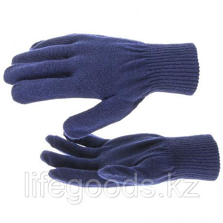Перчатки трикотажные, акрил, синий, двойная манжета Россия Сибртех 68675, фото 2