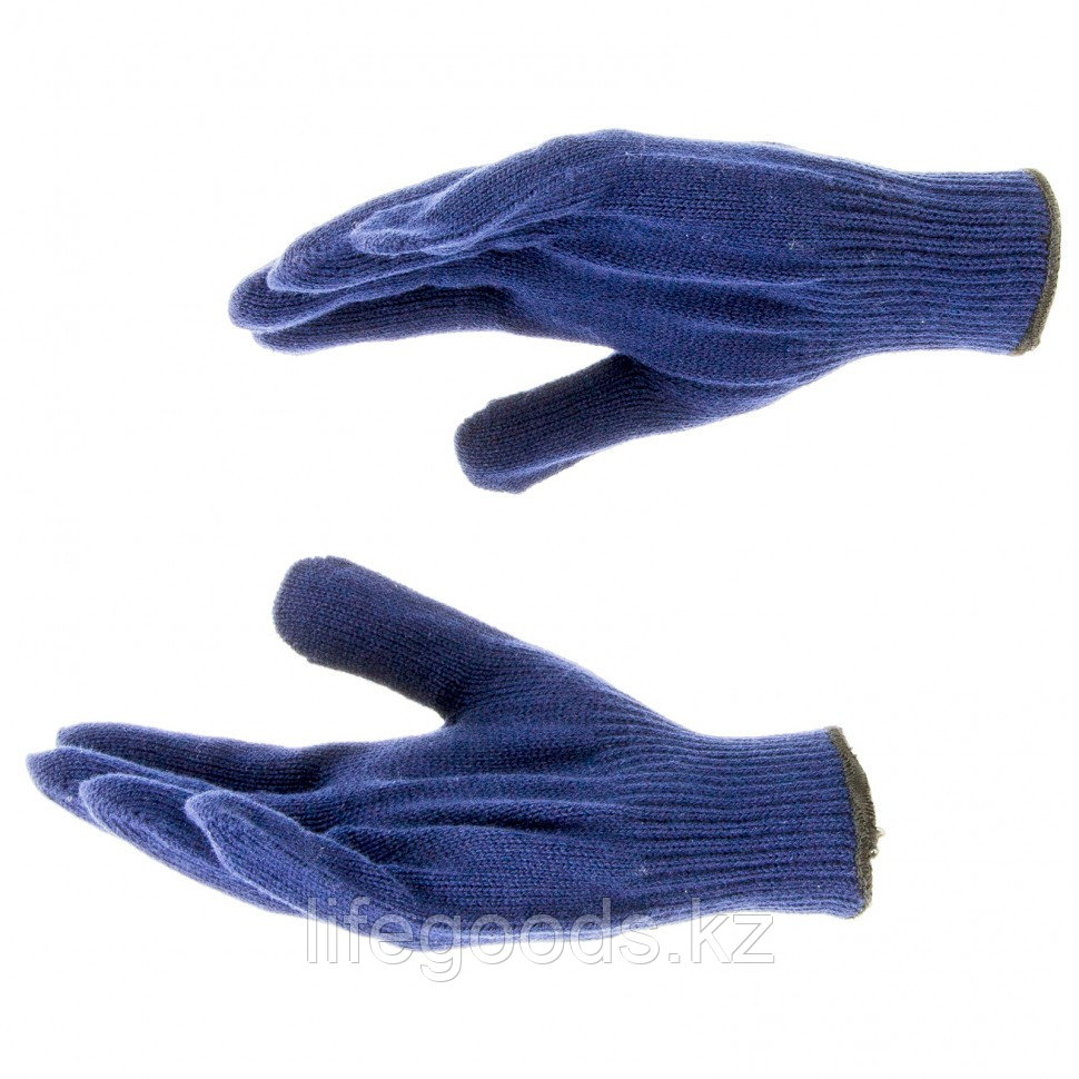 Перчатки трикотажные, акрил, синий, оверлок Россия Сибртех 68655