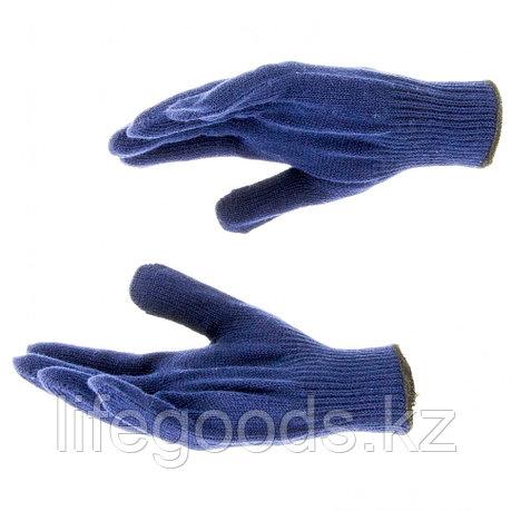 Перчатки трикотажные, акрил, синий, оверлок Россия Сибртех 68655, фото 2