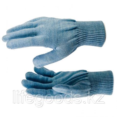 Перчатки трикотажные, акрил, цвет зенит, двойная манжета Россия Сибртех 68676, фото 2