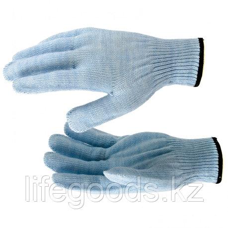 Перчатки трикотажные, акрил, цвет зенит, оверлок Россия Сибртех 68656, фото 2