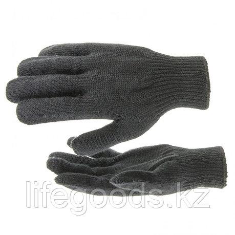 Перчатки трикотажные, акрил, черный, оверлок Россия Сибртех 68651, фото 2