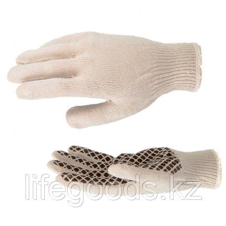 Перчатки трикотажные, ПВХ гель шахматный облив, оверлок Россия Сибртех 67779, фото 2