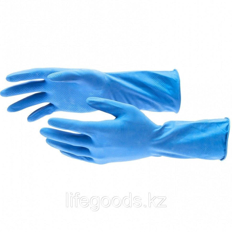Перчатки хозяйственные, латексные c хлопковым напылением, M Elfe 67886