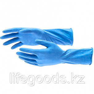 Перчатки хозяйственные, латексные c хлопковым напылением, M Elfe 67886, фото 2