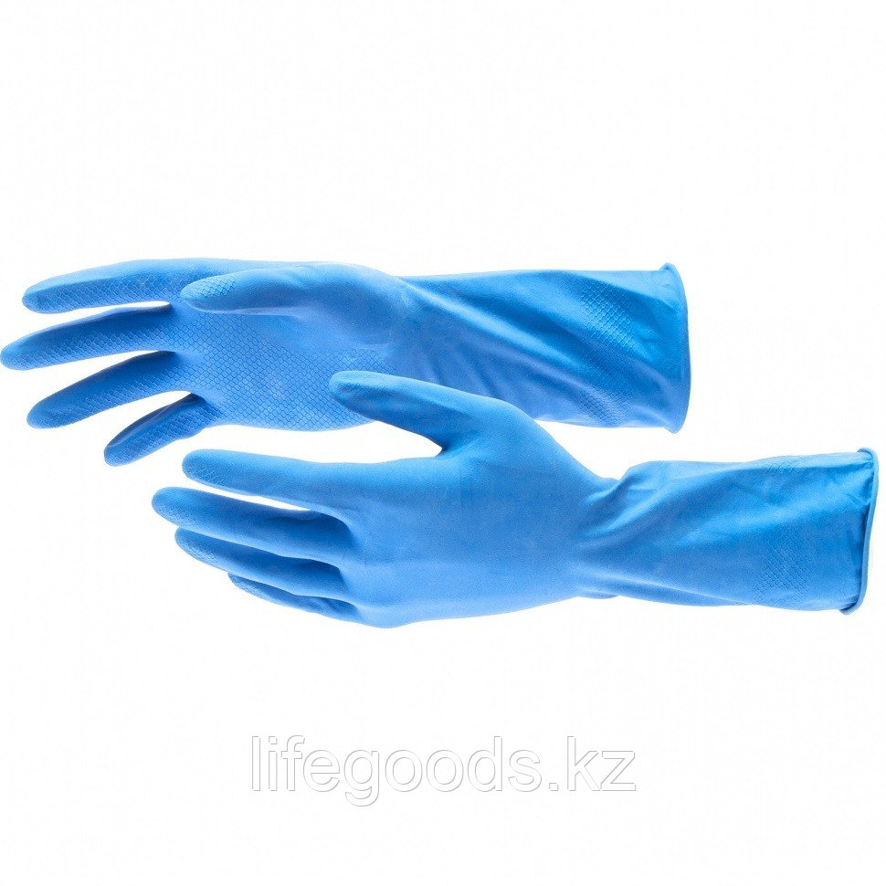 Перчатки хозяйственные, латексные c хлопковым напылением, S Elfe 67885