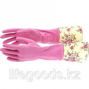 Перчатки хозяйственные, латексные с манжетой, M Elfe 67890, фото 2