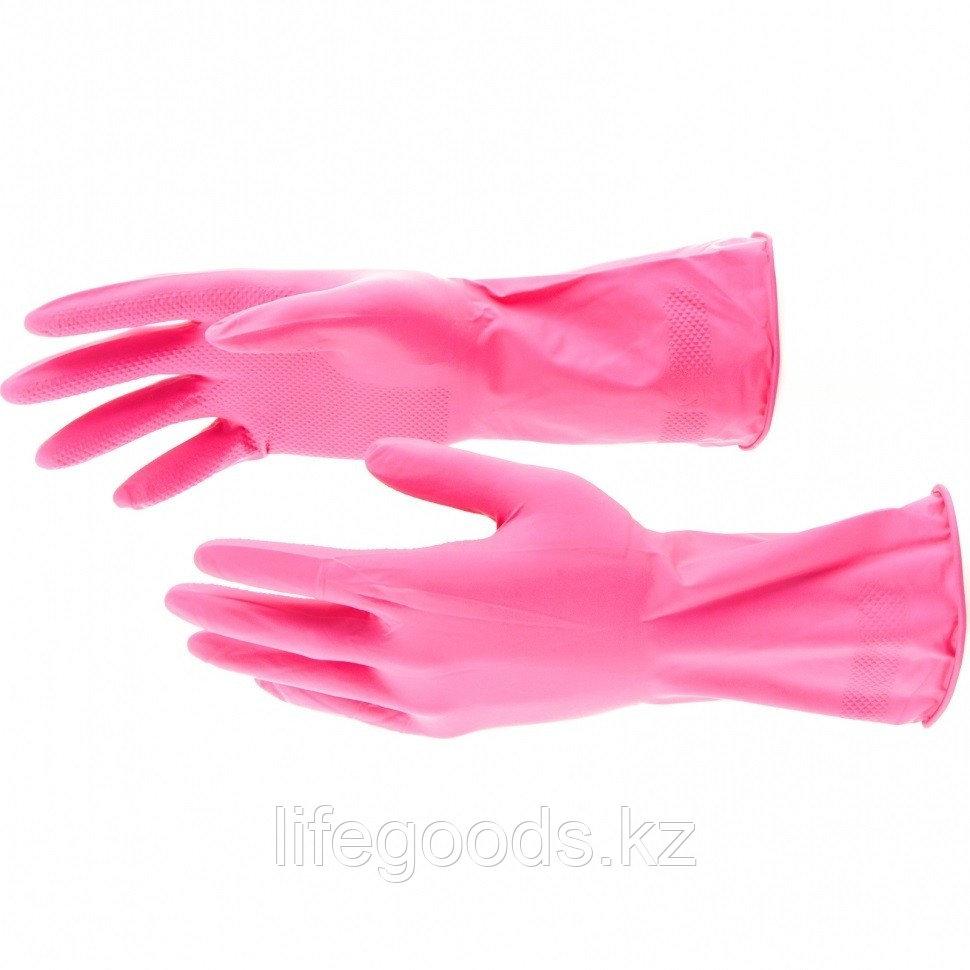 Перчатки хозяйственные, латексные, M Elfe 67882