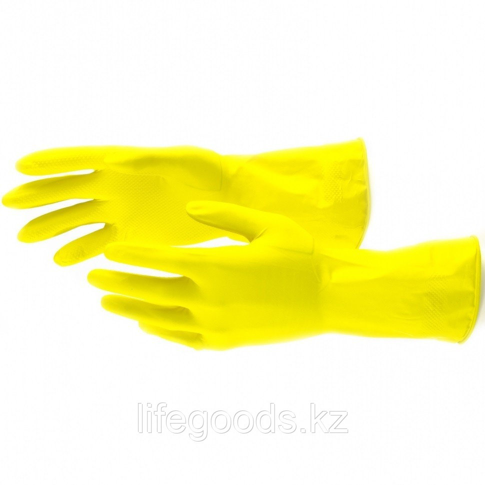 Перчатки хозяйственные, латексные, XL Сибртех 67879