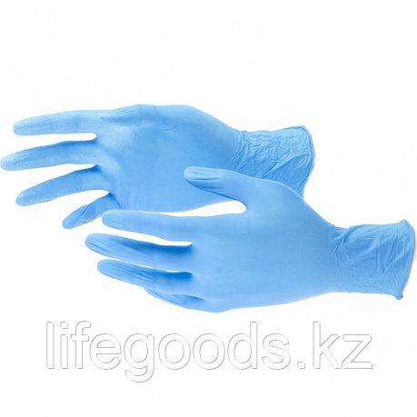 Перчатки хозяйственные, нитриловые 100 шт, L Elfe 67899, фото 2
