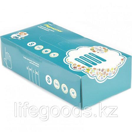 Перчатки хозяйственные, нитриловые 100 шт, M Elfe 67898, фото 2