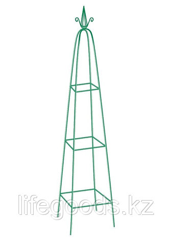 Пирамида садовая декоративная для вьющихся растений, 198 х 33 см, пирамида Palisad 69127, фото 2