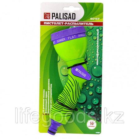 Пистолет-распылитель, 10 режимов полива, эргономичная рукоятка Palisad 65157, фото 2