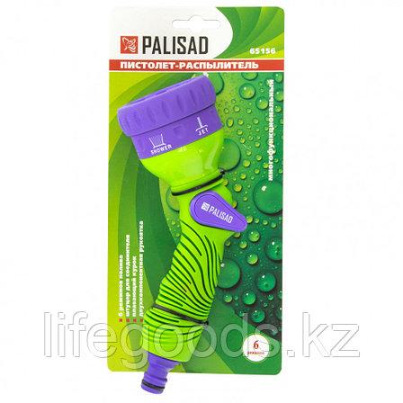 Пистолет-распылитель, 6 режимов полива, эргономичная рукоятка Palisad 65156, фото 2