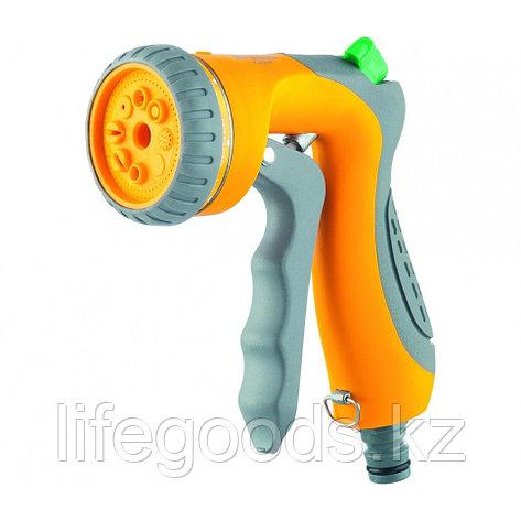 Пистолет-распылитель, 8 режимов полива, курок спереди, регулятор напора, эргономичная рукоятка Palisad Luxe, фото 2
