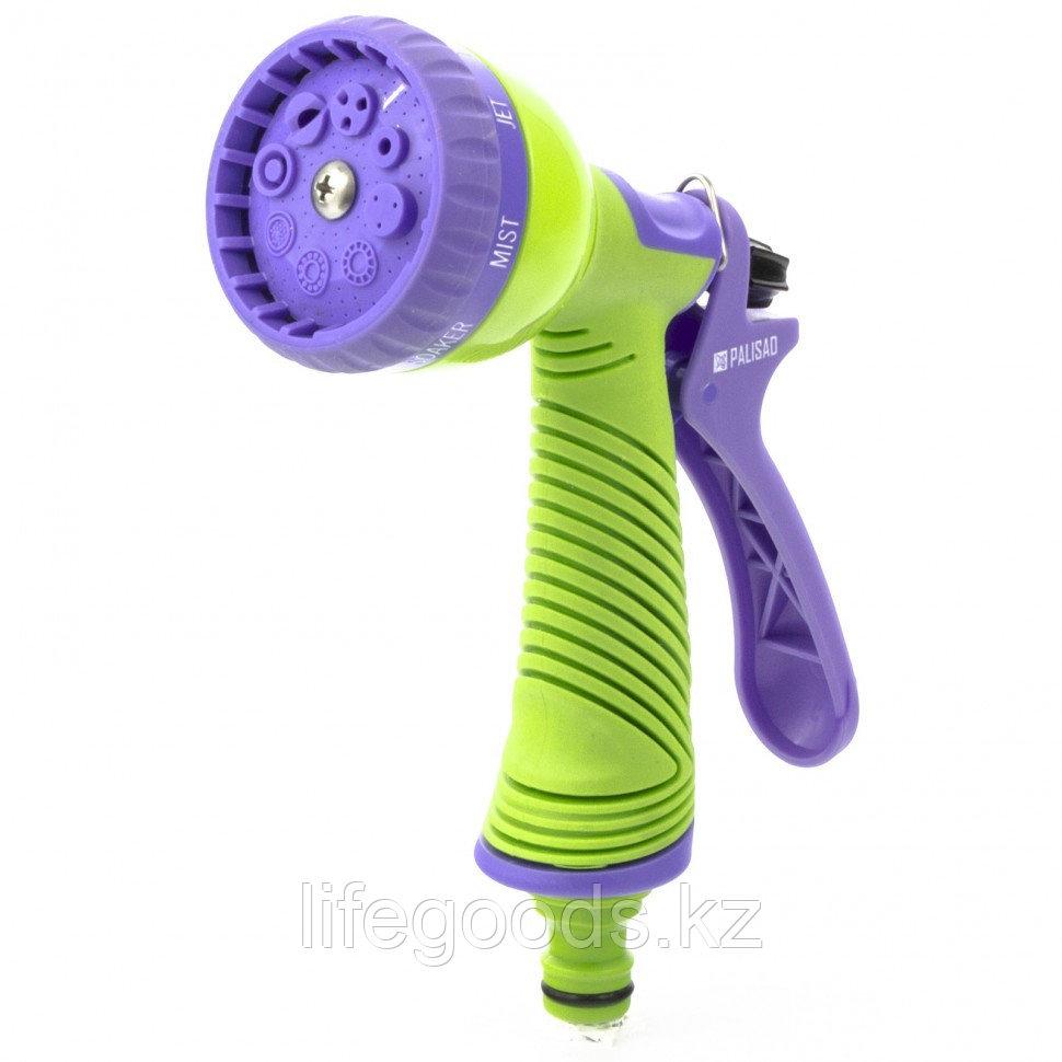 Пистолет-распылитель, 8 режимов полива, эргономичная рукоятка Palisad 65150