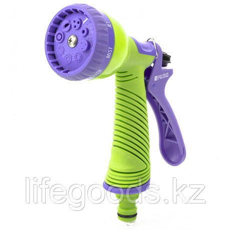 Пистолет-распылитель, 8 режимов полива, эргономичная рукоятка Palisad 65150, фото 2