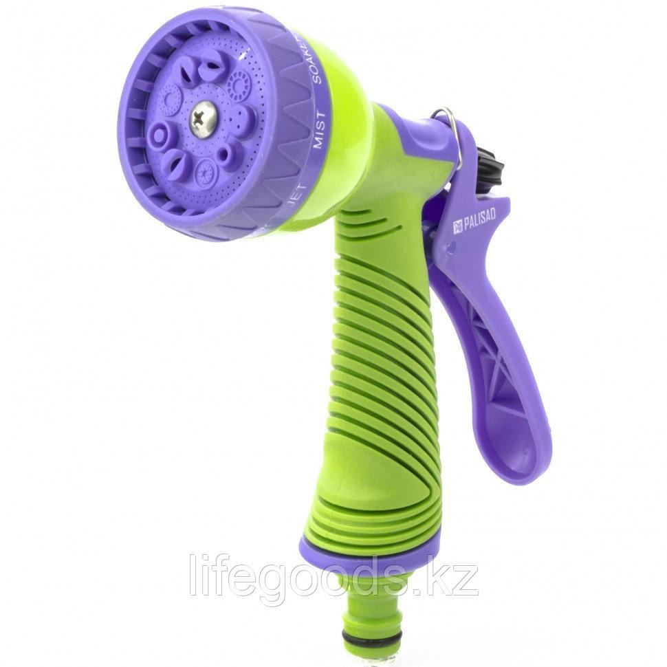 Пистолет-распылитель, 9 режимов полива, эргономичная рукоятка Palisad 65151