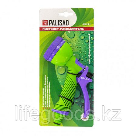 Пистолет-распылитель, 9 режимов полива, эргономичная рукоятка Palisad 65151, фото 2