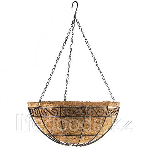 Подвесное кашпо с орнаментом, 30 см, с кокосовой корзиной Palisad 69004, фото 2