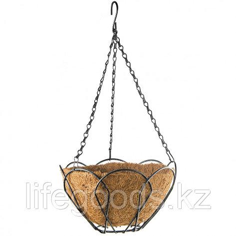 Подвесное кашпо, 25 см, с кокосовой корзиной Palisad 69001, фото 2