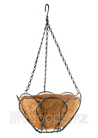 Подвесное кашпо, 30 см, с кокосовой корзиной Palisad, фото 2