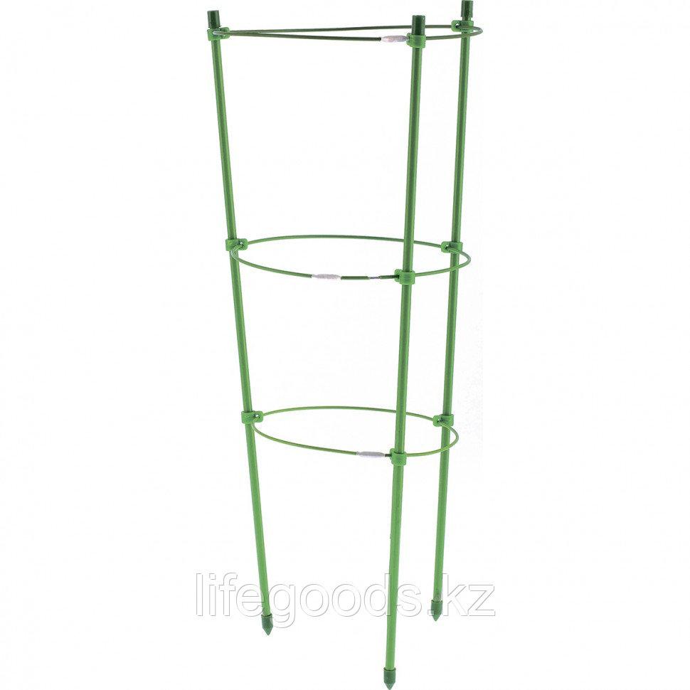 Поддержка для растений круглая H 150 см, металл в пластике, 5 колец Palisad 644045