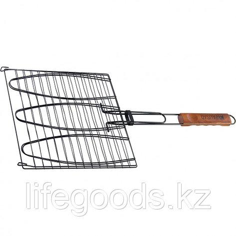 Решетка гриль для рыбы 280 х 280 мм, антипригарное покрытие, Camping Palisad 69564, фото 2