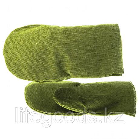 Рукавицы брезентовые водоотталкивающие, 1 размер Россия Сибртех 68120, фото 2