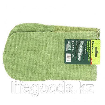 Рукавицы брезентовые огнеупорные, 1 размер Россия Сибртех 68115, фото 2