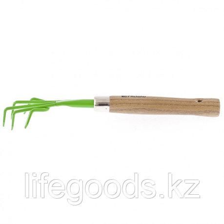 Рыхлитель пятизубый, металлический, деревянная рукоятка, 330 мм Palisad 62353, фото 2