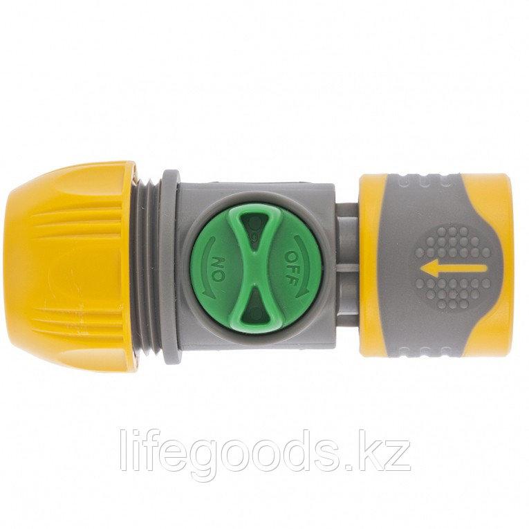Соединитель быстросъемный унив. 1/2-3/4 с переключателем Palisad Luxe 66254