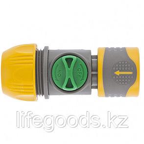 Соединитель быстросъемный унив. 1/2-3/4 с переключателем Palisad Luxe 66254, фото 2