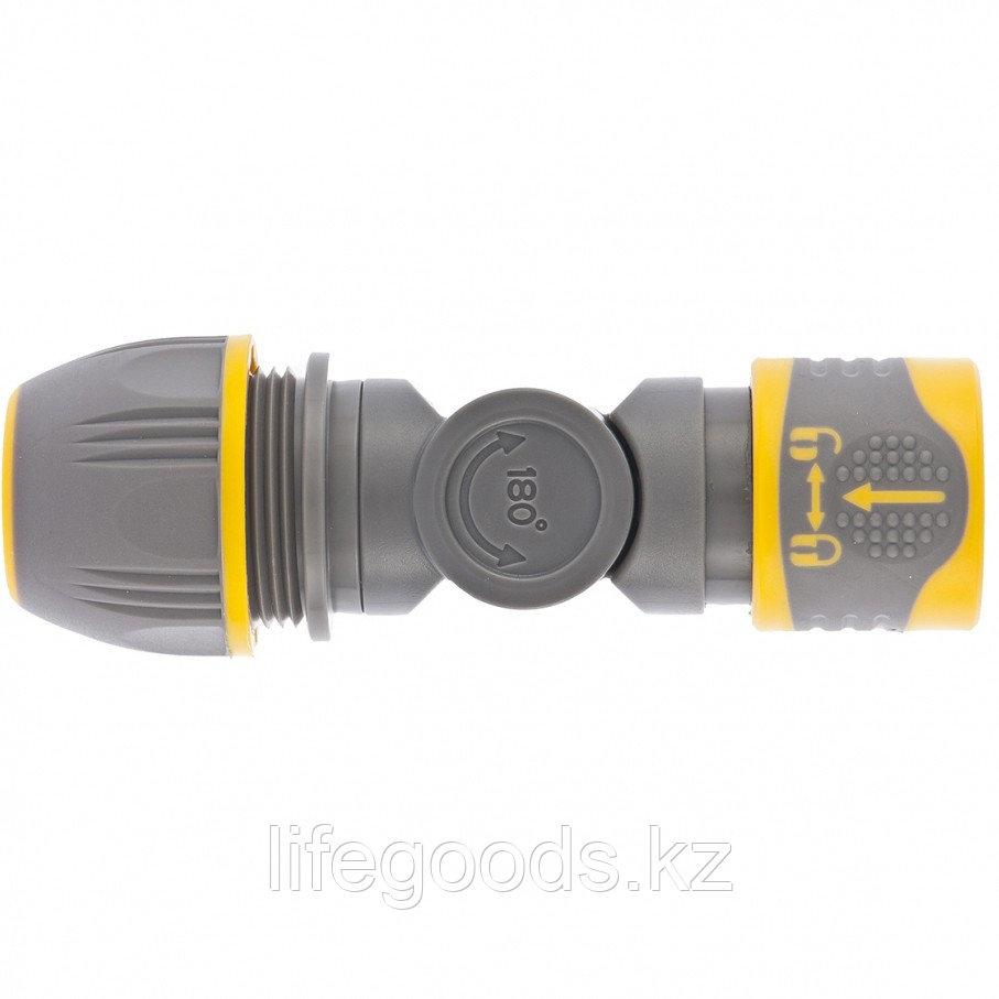 Соединитель быстросъемный, универсальный 1/2-3/4, с шарниром Palisad Luxe 66249