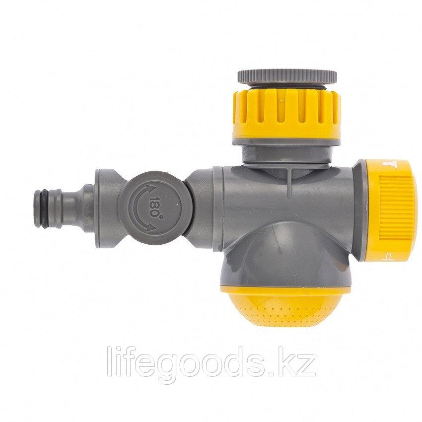 Соединитель для крана с внутренней резьбой 1/2-3/4 с переключателем и шарниром Palisad Luxe 66253