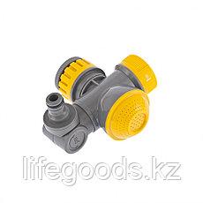 Соединитель для крана с внутренней резьбой 1/2-3/4 с переключателем и шарниром Palisad Luxe 66253, фото 2